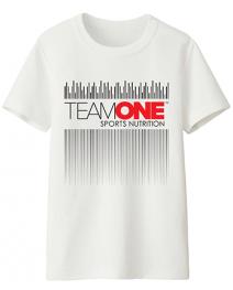 TEAM ONE t-shirt wave design