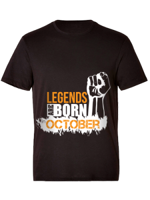 24Protein T-Shirt  Only for those who born on October